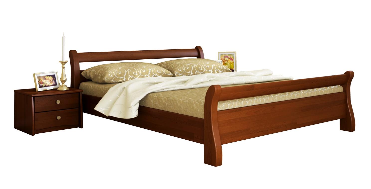 Дерев'яне ліжко ДІАНА ТМ Естелла, матеріал бук, основа ламелі, 8 кольорів