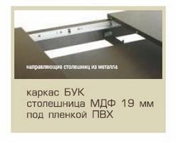 Стіл розкладний Мелітопольмеблі БЕРЛІН, стільниця МДФ, ноги бук, 1150(1550)*750, колір