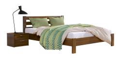 Дерев'яне ліжко РЕНАТА ЛЮКС ТМ Естелла, матеріал бук, основа ламелі, 8 кольорів