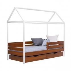 Дерев'яне дитяче ліжко АММІ ТМ Естелла, матеріал бук, основа ламелі, ящики для…