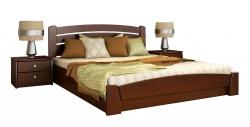 Дерев'яне ліжко Селена Аурі ТМ Естелла з підйомним механізмом, матеріал бук, основа ламелі, 8 кольорів