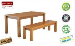 Стіл Амберг Люкс / Amberg Lux дерев'яний обідній кухонний (Грамма ТМ), Дуб, 7 кольорів