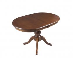 Овальний розкладний стіл «Вікторія» 1200(1600)*800 Мелітопольмеблі, стільниця МДФ шпонована, ноги Бук, колір