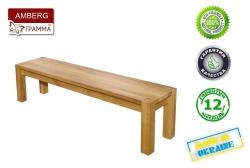 Лавка Амберг / Amberg дерев'яна без спинки (Грамма ТМ), Дуб,…