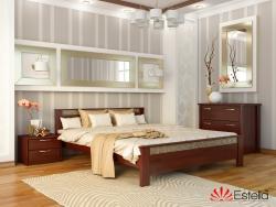 Дерев′яне ліжко АФІНА ТМ Естелла, двоспальне, матеріал бук, основа ламелі,…
