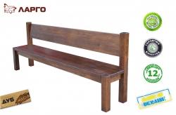 Лавка Ларго / Largo дерев'яна зі спинкою (Грамма ТМ), Дуб,…